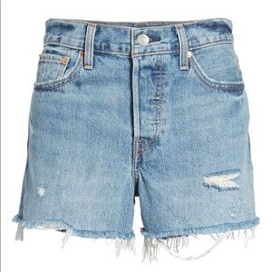 Levi's Wedgie High Waist Cutoff Denim Shorts